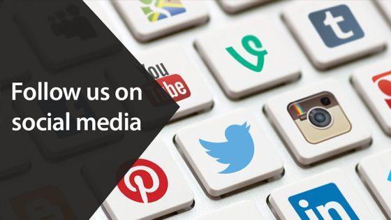 Follow us on social media 1