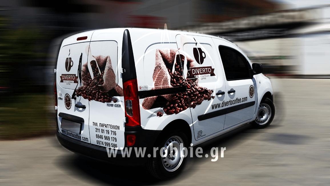 Diverto Coffee / Σήμανση οχημάτων 2