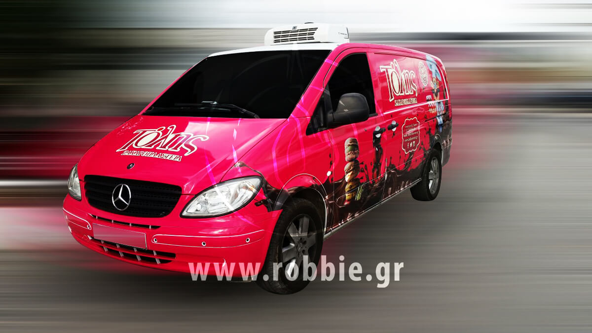 Tolis Sweets Van / Σήμανση οχημάτων 5
